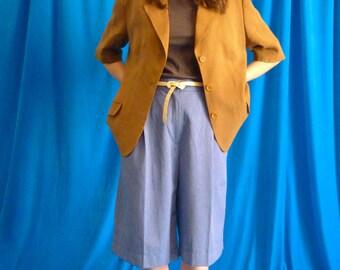 American Short sleeves Vintage 70s Brown