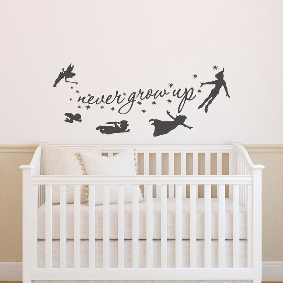 Amazing Peter Pan Wall Decal Quote Never Grow Up Quotes Wall Decals