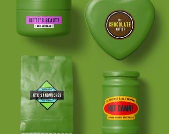 100 Product Labels | Logo Labels, Business Labels, Product Label, Custom Product Label, Wholesale Labels, Product Stickers, Product Sticker