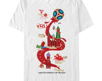 FIFA World Cup Russia 2018 Host Celebration Mens Graphic T Shirt