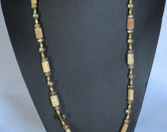 Beige and gold necklace
