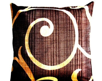 Decorative Pillows - Brown Pillow Covers.Gold Accent Pillows - Home Decor Accessories.