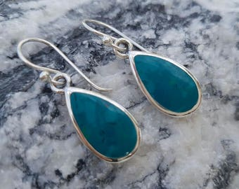 Sterling silver 'Eilat stone' earrings