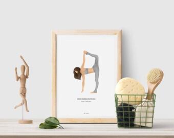 Gift for yogi, yoga gift, gift printable, last minute gift, gift for her, yoga print, yoga PRINTABLE art, yoga pose print, yoga poster