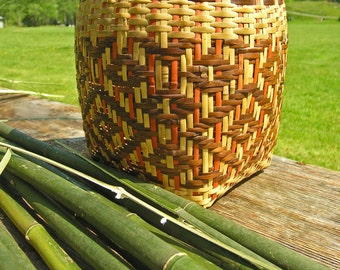 Cherokee River Cane Basket, Fine Art Matted Photography