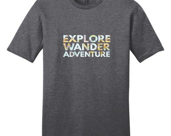 Explore Wander Adventure - Quote T-Shirt
