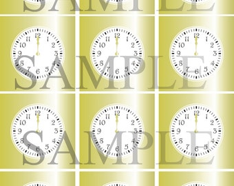 Instant Download Stroke of Midnight Golden Clock Toppers and Clock art
