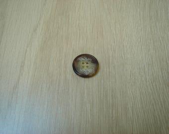 marbled taxim round Brown button