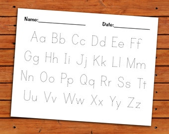 Alphabet Trace Worksheet - PDF - Printable