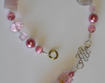 Pretty in Pink Glass Beaded Suncatcher