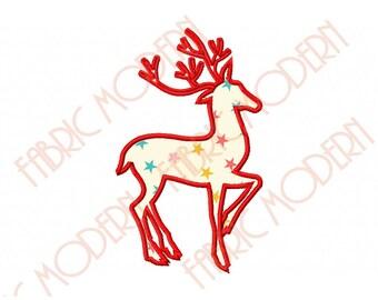 REINDEER Machine Applique' Embroidery Design  for Christmas items  applique'  #491