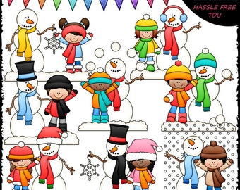 Frosty and Friends Clip Art and B&W Set