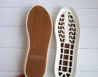 White shoe soles for felted boots Womens soles for crochet boots For wide legs For stitched shoes Outdoor soles leather insole Cotton insole