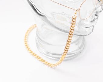 Gold and Cream Eyeglass Chain, gold eyeglass strap, sunglasses chain,