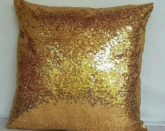 gold sequin pillow, decorative gold metallic pillow, blush pillow, throw pillow cover, event decor. wedding decor,Sparkly Pillow. 20 % off