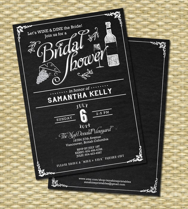 Wine bridal shower invitation chalkboard bridal shower wine zoom filmwisefo