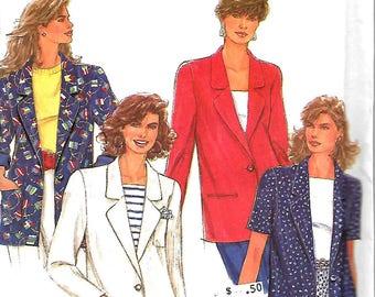 Simplicity 7722 Misses Lined Jacket Pattern, 12-16, UNCUT