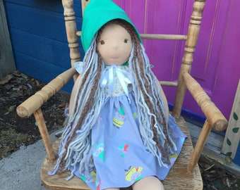Waldorf Doll Gnome Dress with Hat