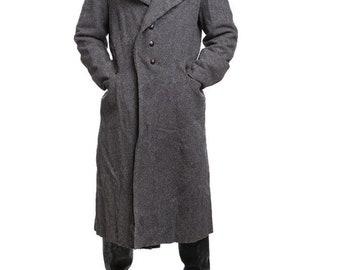 Vintage Soviet Era Bulgarian wool  winter Army Trenchcoat Greatcoat Communist trench