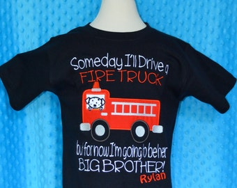 Personalized For now...to be a Big Brother Applique Shirt or Bodysuit Girl or Boy