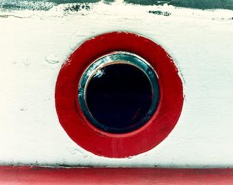 Red Porthole Boat