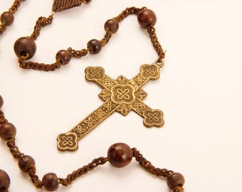 Mid 1800's brown Rosary