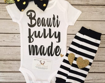 Baby Girl Clothes, Beautifully Made Bodysuit, Beautifully Made Shirt, Girl Clothes, Beautiful, Baby Shower Gift, Clothes, Girls