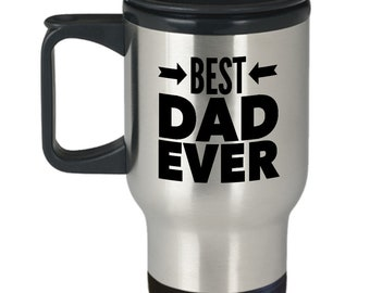 Dad Travel Mug - Father's Day Gift For Dad, Husband, Him, From Kids - Best Dad Ever Stainless Steel Travel Coffee Mug- Dad Insulated Tumbler