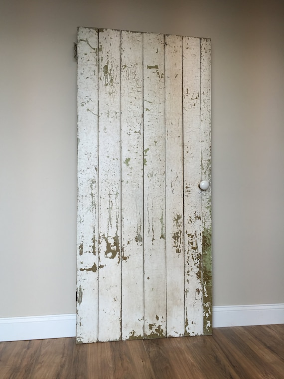 Farmhouse Board and Batten Door - Rustic Wooden Door - Primitive Antique Door - Barn Wood Door - Fixer Upper Decor