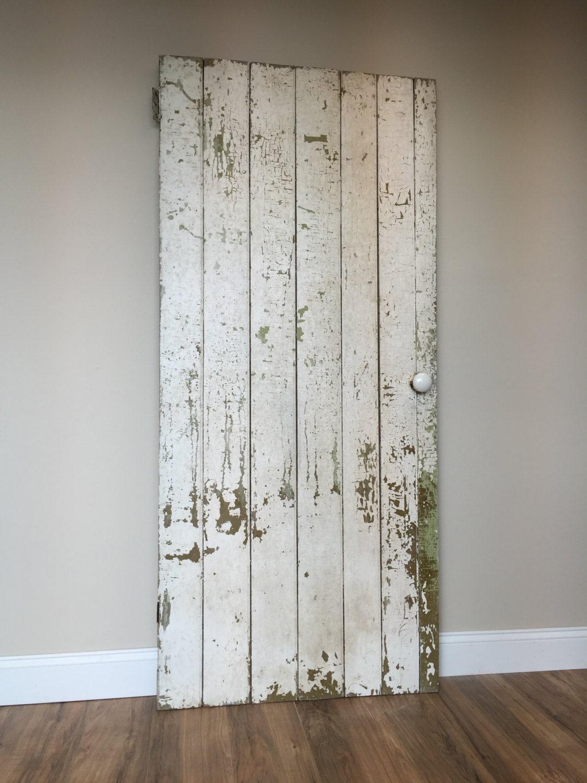 Farmhouse Board and Batten Door - Rustic Wooden Door - Primitive Antique Door - Barn Wood Door - Fixer Upper Decor & Farmhouse Board and Batten Door - Rustic Wooden Door - Primitive ...