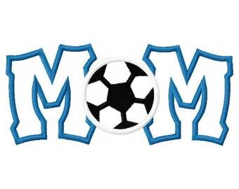 Soccer Mom Digital Embroidery Machine Applique Design 10614