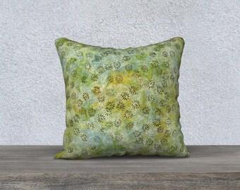 """Batik Green 18""""x18"""" Pillow Case"""