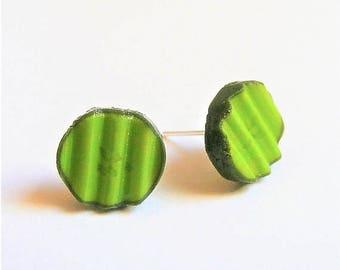 Food Jewelry, Pickle Earrings, Miniature Food Jewellery, Mini Food Earrings, Dill Pickle Earrings, Pickle Jewelry, Pickle Lover Pregnancy