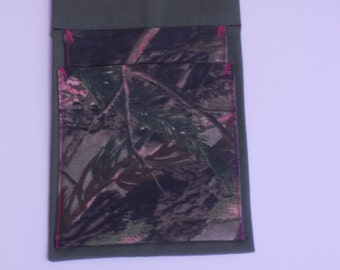 Real Tree camouflage on olive with pink accents       #B23
