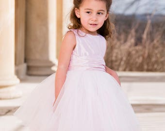 Lily Tutu Flower Girl Dress Silk/Tulle