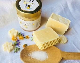 Salt & honey Olive Oil Soap