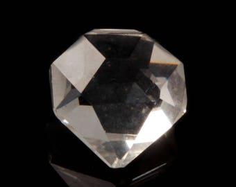 Czech glass bead Large 20mm vintage Art Deco Czech hand heart faceted crystal glass pendant bead prism
