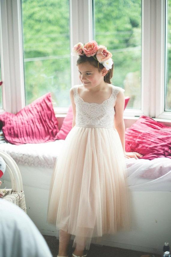 Light Pink Flower Girl Dresses