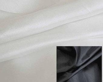 Lining Fabric China Silk Habutai/ Habotai 100% Polyester By Yard black white 3 yds minimum