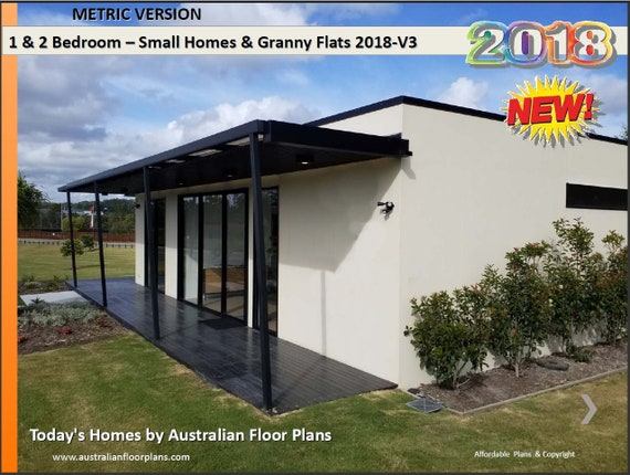 1 and 2 Bedroom house plans BOOK Small Houses & Granny Flats