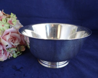 Vintage Silverplated Paul Revere Reproduction Bowl by Oneida Community IS - Elegant