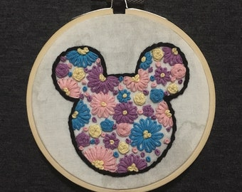 Rapunzel Inspired Embroidery Hoop
