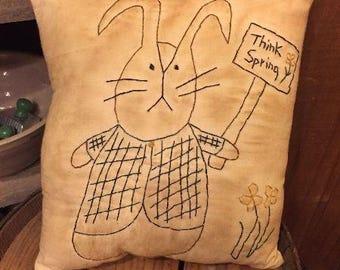 Think Spring Bunny Stitchery E-Pattern