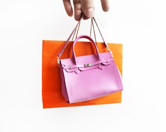 Mini French Large handbag charm 1/3 scale