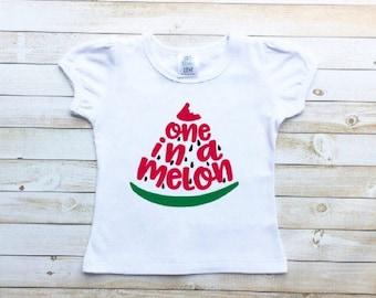 One in a melon shirt, first birthday, watermelon party, one in a melon party, bodysuit or t-shirt
