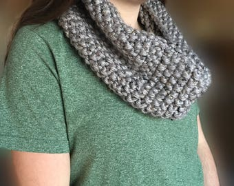 Hand Knit Cowl // Infinity Cowl // Scarf // Cowl // Women's Cowl