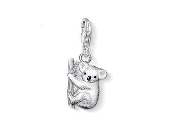 sterling silver charm bead animal koala, Charm for Bracelets, Brand New Sterling Silver, Euro Charm Bracelet, Charm Lobster Clip Clasp
