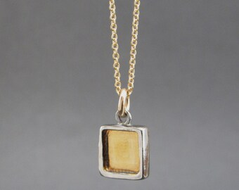 Sterling Silver and 24K Gold Necklace