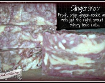 Gingersnap - Rustic Suds Natural - Organic Goat Milk Triple Butter Soap Bar - 5-6oz. Each
