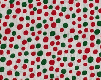 Christmas Dot fabric in Red, White and Green